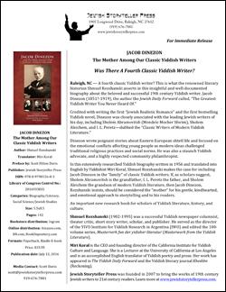 Jacob Dinezon Biograph News Release